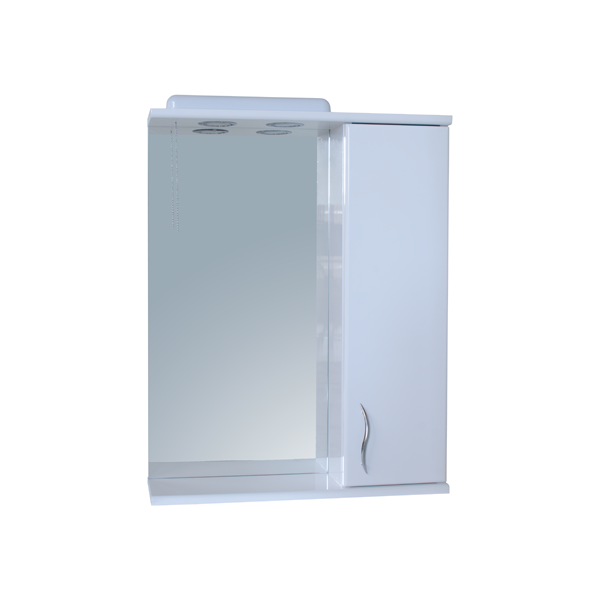 Зеркало для ванной комнаты Базис 55-01 правое ПИК