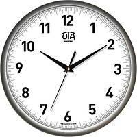 Часы настенные UTA Сlassic 300 х 300 х 45 мм с серебристым ободом