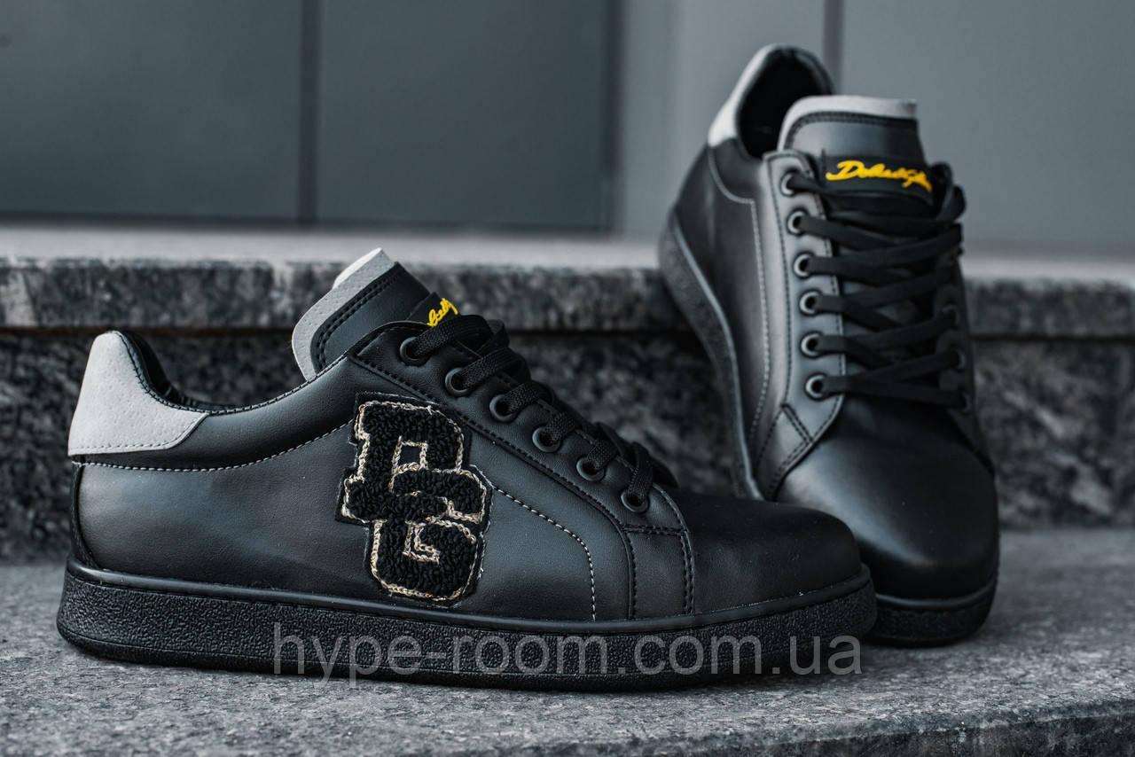 Чоловічі шкіряні кросівки в стилі Dolce Gabbana   Висока Якість!