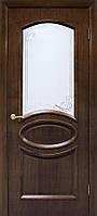 """Двері міжкімнатні ОМіС класика """"Лаура"""" СС+КР горіх + скло (600,700,800,900 мм)"""