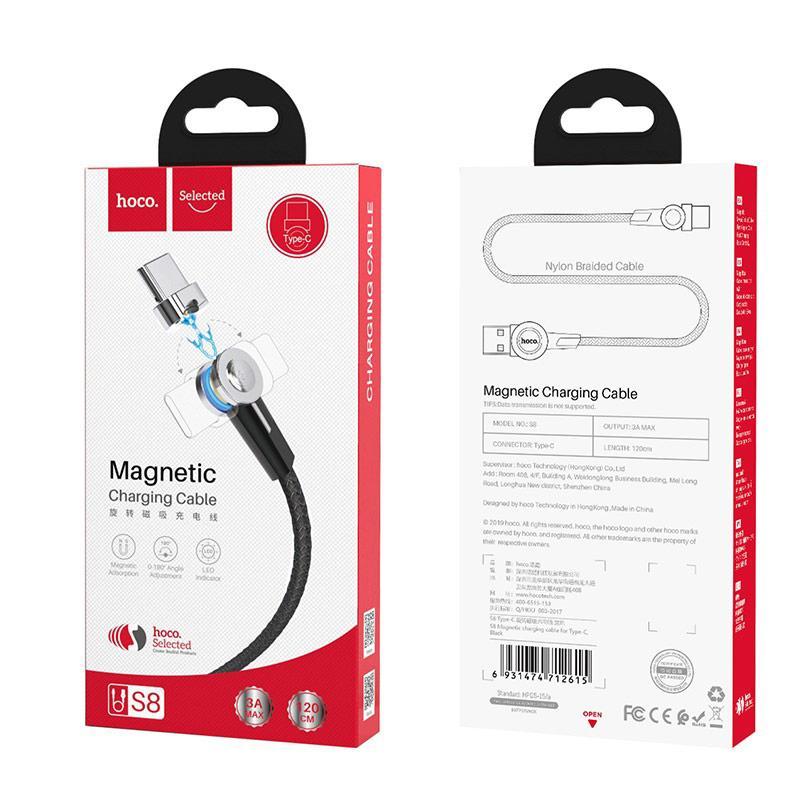 Кабель синхронізації HOCO S8 Magnetic Charging Type-C Cable 1m Black