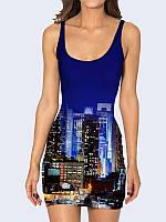 Женское 3D  Платье Город не спит