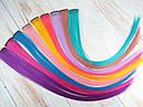 Цветные пряди на заколках клипсах набор 12 штук, фото 2