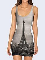 Женское 3D  Платье Достопримечательность Франции