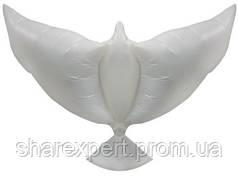 Шар (34''/86 см) Фигура, Воздушный надувной голубь, Белый, 1 шт.