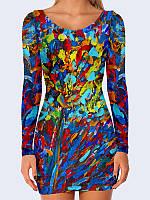 Женское 3D  Платье Красочные мазки