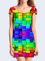 Женское 3D  Платье Объемные кубики