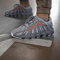 Мужские кроссовки в стиле Adidas Yeezy boost 451 (blue), адидас изи буст 451 (Реплика ААА)