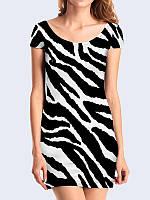 Женское 3D  Платье Полосатый окрас