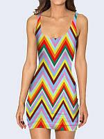 Женское 3D  Платье Разноцветный зигзаг