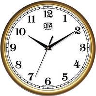 Часы настенные UTA Сlassic 300 х 300 х 45 мм в золотистом ободе