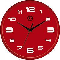 Часы настенные UTA Сlassic 300 х 300 х 45 мм в красном цвете