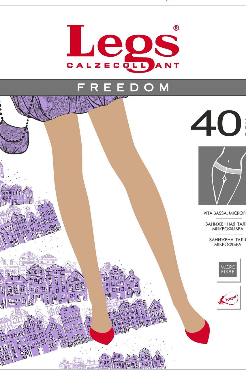 Колготки(3 р-р) из микрофибры с заниженной талией, чёрный, Freedom 40 ден, Legs