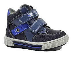 Светло-синие ботинки Сказка с носком от сбивания для мальчика 22-25 р