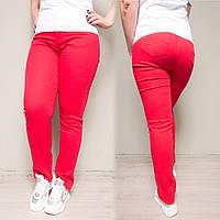 9760-L красные Sunbird джинсы женские батальные летние стрейчевые (31-38, 6 ед.), фото 1