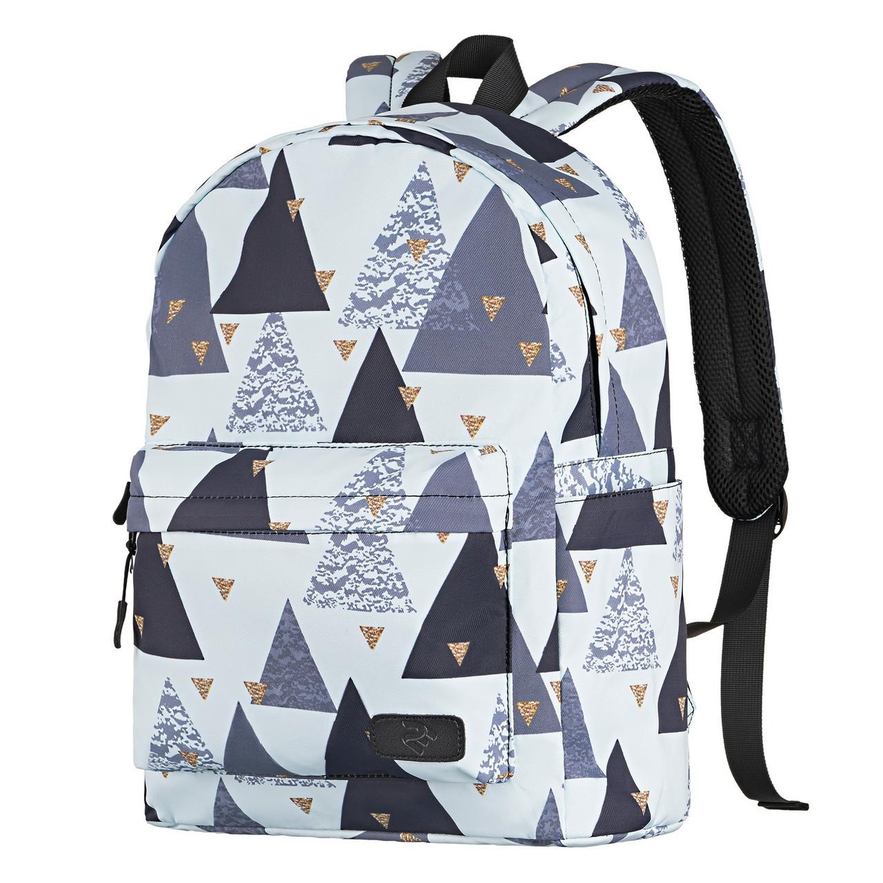 Рюкзак TeensPack белый с рисунком Triangles, «2E Bags&Cases» (2E-BPT6114WT)