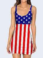 Женское 3D  Платье Флаг Соединенных Штатов