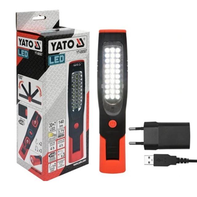 Лампа-переноска аккумуляторная 37/7 LED  YATO YT-08507