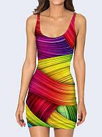 Женское 3D  Платье Цветовая гамма