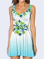 Женское 3D  Платье Цветочный букет