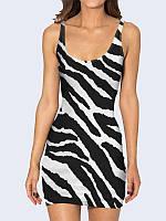 Женское 3D  Платье Черно-белая расцветка