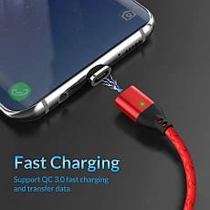 Оригінальний магнітний кабель TOPK TK0141 Type-C Quick Charge 3A швидка зарядка QC3.0 Red (CS0141800610), фото 3