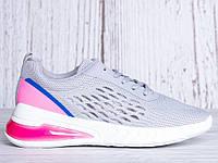 Спортивная женская обувь для тренировок, кроссовки серые