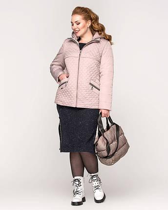 Женская демисезонная куртка батал - М 3652, фото 2