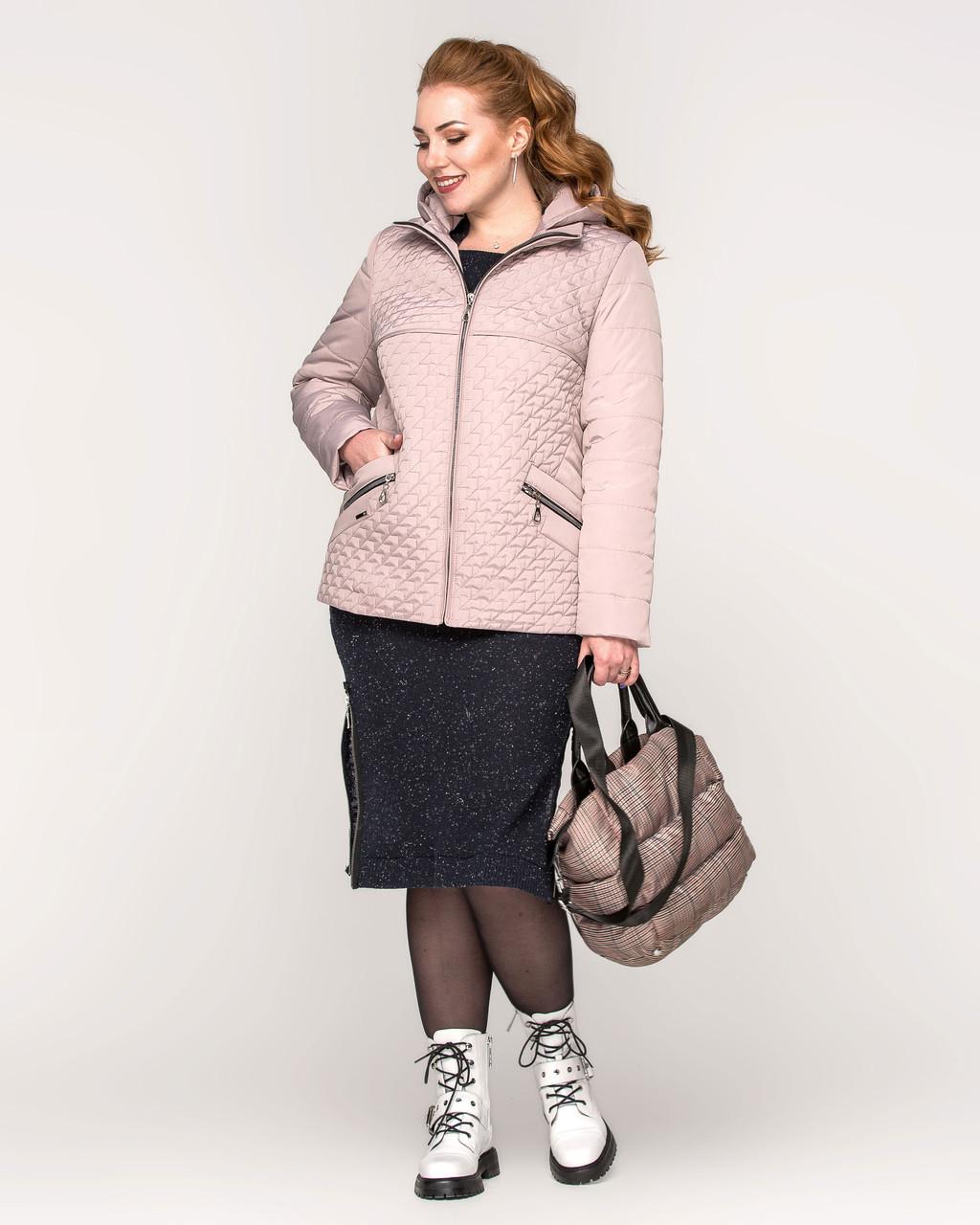 Женская демисезонная куртка батал - М 3652