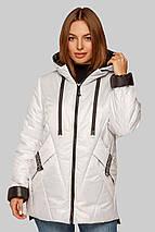 Женская модная куртка Диана на межсезонье больших размеров, фото 3