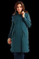 Женский плащ FiNN FLARE B19-12072-506 темно-зеленый классического кроя
