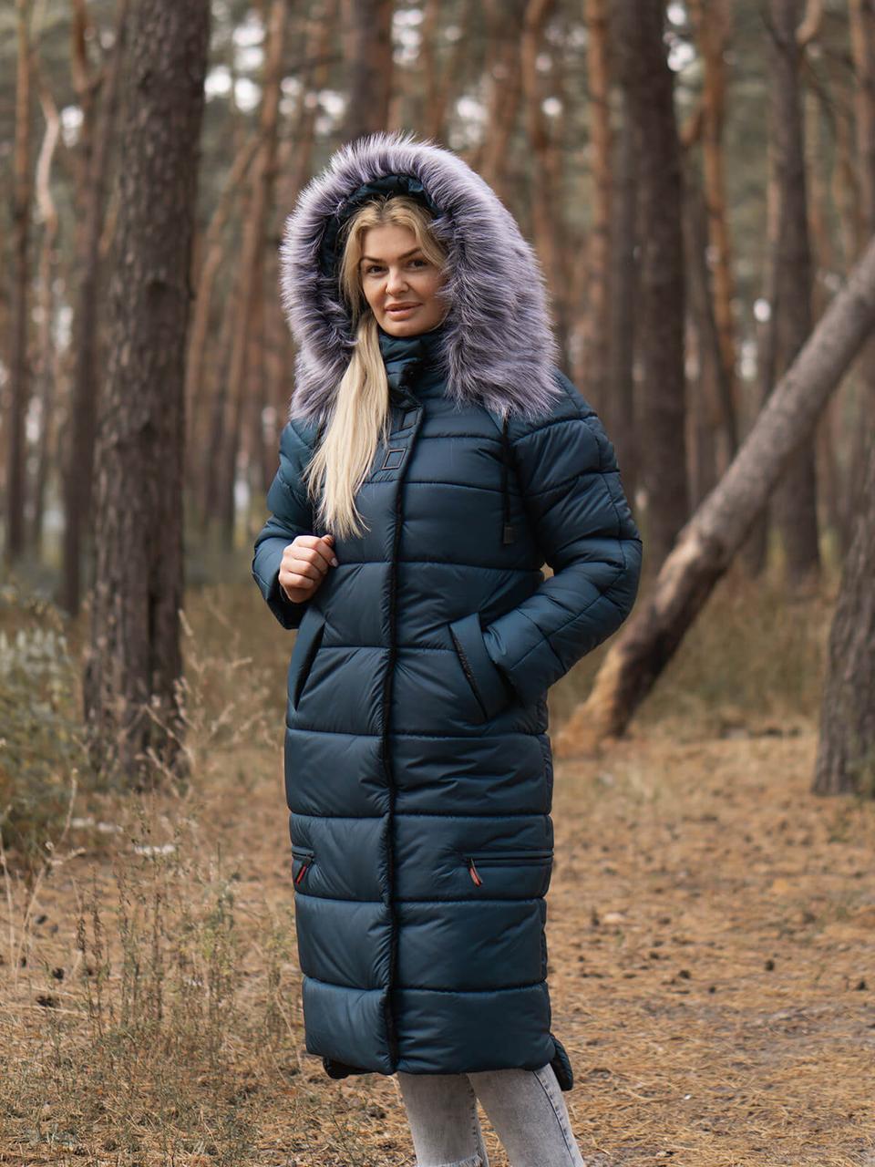 Длинное пальто-куртка на зиму Barbara, р-ры 48-58