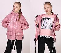 """Стильная демисезонная курточка трансформер на девочку """" Тина"""""""