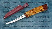 Нож рыбацкий, филейный Grand Way 2249 BLP (береста), фото 1