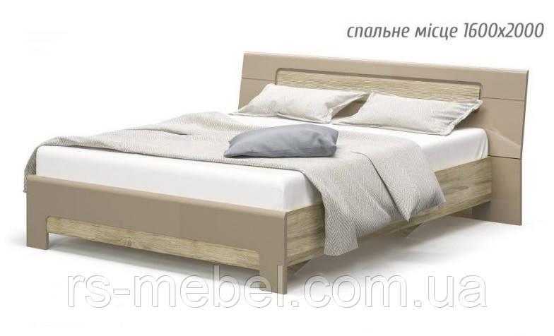 """Ліжко 160 """"Флоренс"""" (Мебель-Сервіс)"""