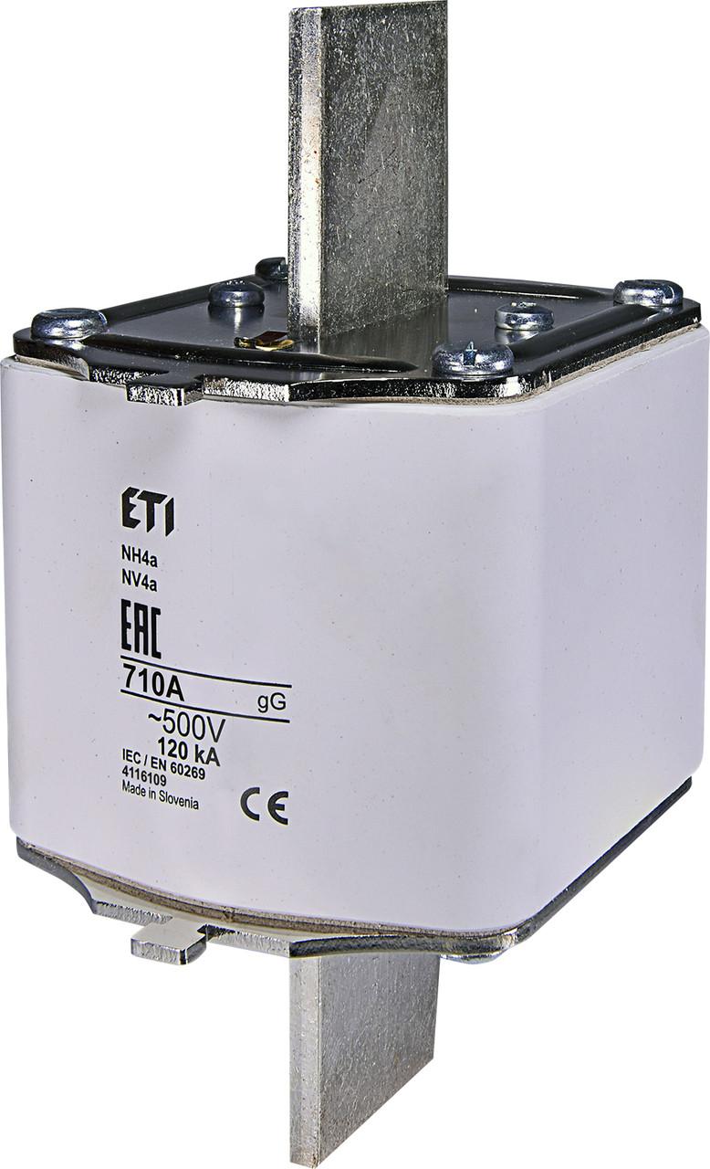Предохранитель ETI NH-4a gL/gG 710A 500V KOMBI 120kA 4116109 ножевой универсальный