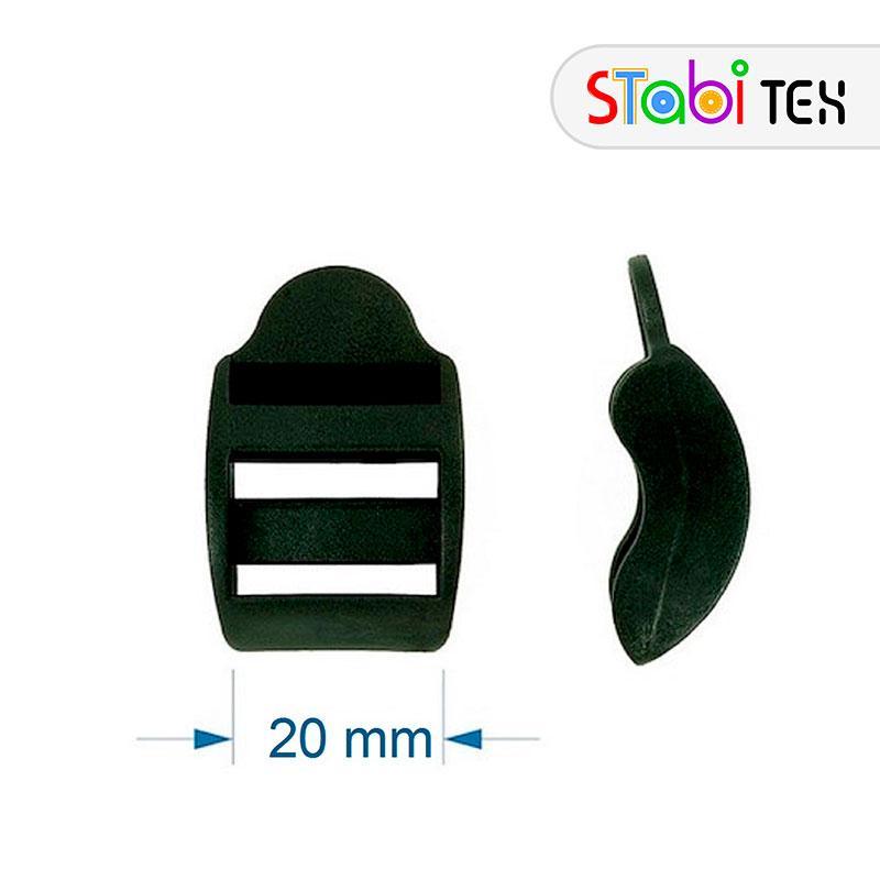 Пряжка трехщелевая регулировочная 20мм ZYM-2011 пластик (500шт/уп)