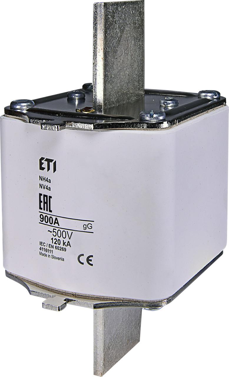 Предохранитель ETI NH-4a gL/gG 900A 500V KOMBI 120kA 4116111 ножевой универсальный