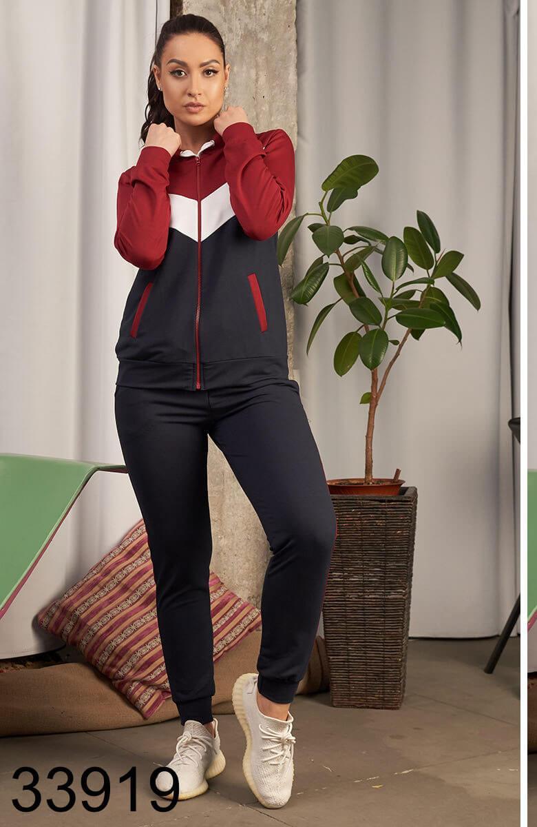 Женский спортивный костюм штаны + кофта с капюшоном р.48-50,50-52,52-54