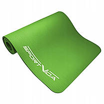 Коврик (мат) для йоги и фитнеса SportVida NBR 1 см SV-HK0248 Green, фото 2