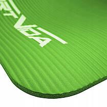 Коврик (мат) для йоги и фитнеса SportVida NBR 1 см SV-HK0248 Green, фото 3