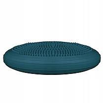 Балансировочная подушка (сенсомоторная) массажная Springos PRO FA0083 Navy Blue, фото 3