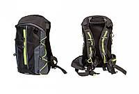 Рюкзак QIJIAN BAGS B-300 44х26х9см чорно-сіро-зелений