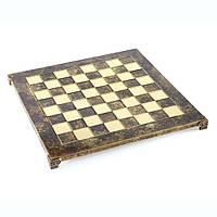 Шахматы Manopoulos Спартанский воин латунь в деревянном футляр 28х28 см Коричневый (S16CBRO)