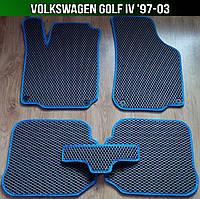 ЕВА коврики на Volkswagen Golf IV '97-03. Автоковрики EVA Фольксваген Гольф 4 Фольцваген