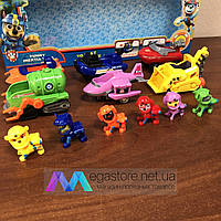 Игровой набор фигурок Paw Patrol Щенячий патруль с инерционным транспортом собачий отряд 6 героев с машинками