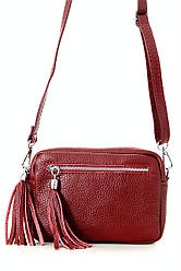 Итальянская сумочка кросс боди STINA Diva's Bag цвет бордовый