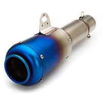 Глушник-прямоток GUGNDA GD024-1 Akrapovic (репліка),прямоток,51 см,нержавіюча сталь, (laser logo), фото 1