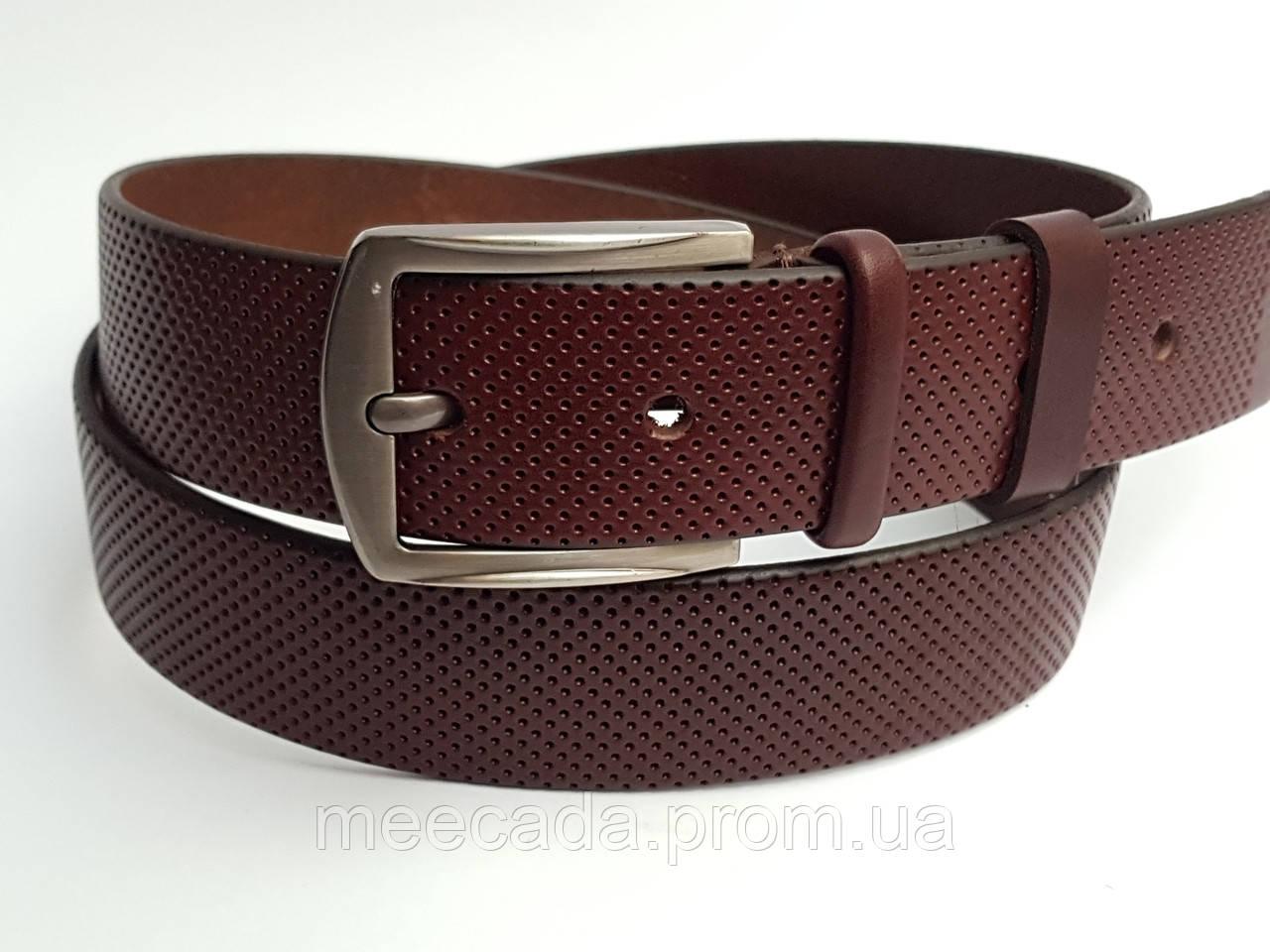 Кожаный ремень Meecada Jeans belt, коньячный цвет