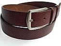 Кожаный ремень Meecada Jeans belt, коньячный цвет, фото 2